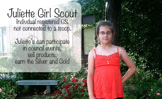 Silver Award ideas, Girl Scout, Juliette