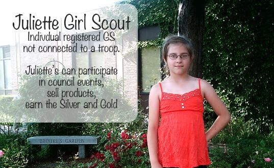 Silver Award ideas, Girl Scout, Juliette