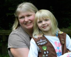 Sarah McDonald and her brownie