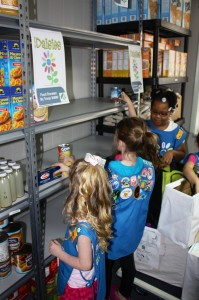 daisy girl scouts Give Back to Community with Food Drive