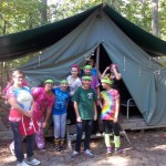 Camping with Cadette Girl Scouts
