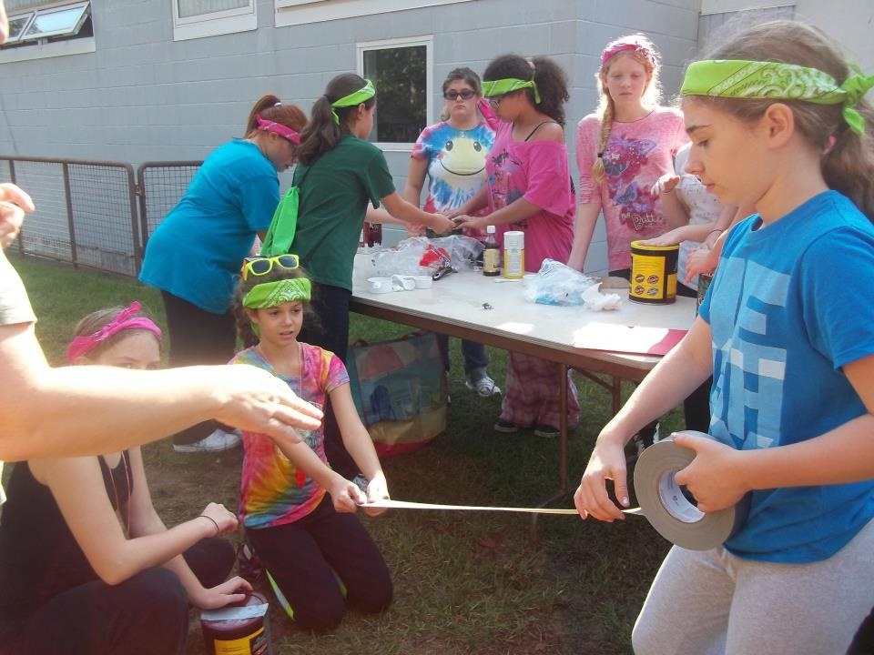 Cadette Girl Scout Camping