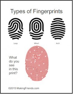 Junior Detective Badge thumb prints
