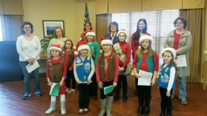 Recruiting Scout Leaders. Daisy girl Carolers