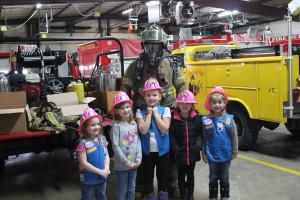 Daisy Girls Earning the Safety Award