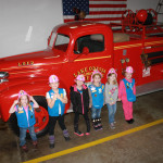 Daisy Girl Scouts Earning the Safety Award