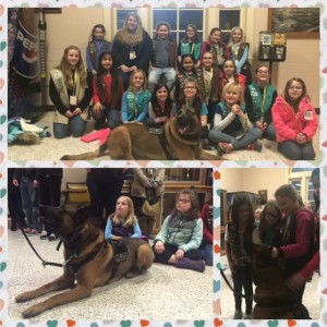 Girl Scout Bronze Award Provide K9 Police Officers Bullet Proof Vests