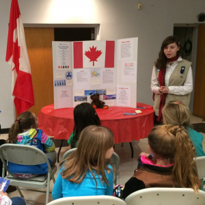 Girl Scout International Night Service Unit Event