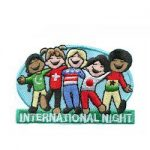 Girl Scout International Night Service Unit Event patch