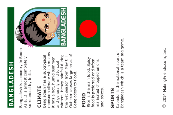 bangladesh Fact Card