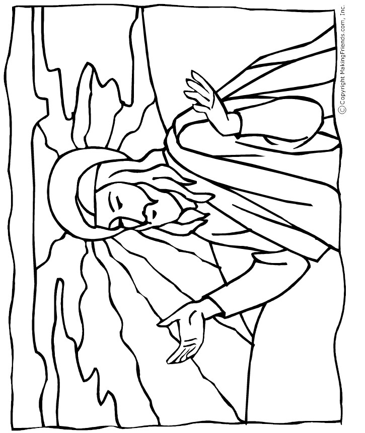 friends of jesus coloring pages - photo#22