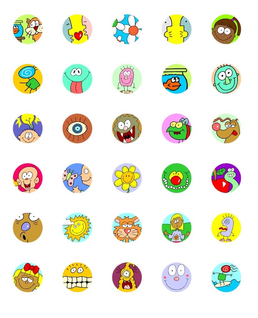 image regarding Printable Bottlecap Images known as Bottle Cap Cartoon Printables for Swapping - MakingFriends