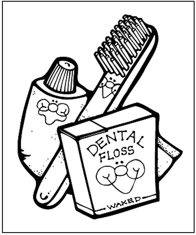 fun online printable dental health coloring pages for kids to color or ...