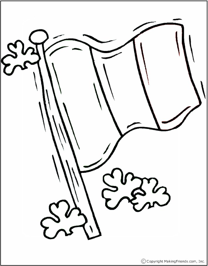 Irish Flag Coloring Page Makingfriendsmakingfriends Flag Coloring Page