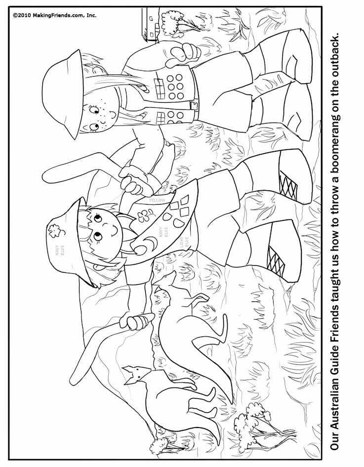 - Australian Girl Guide Coloring Page - MakingFriends