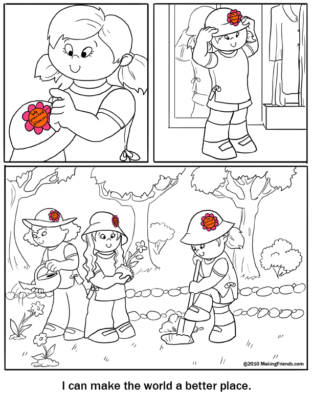 Daisy Coloring Page Make the World a Better Place