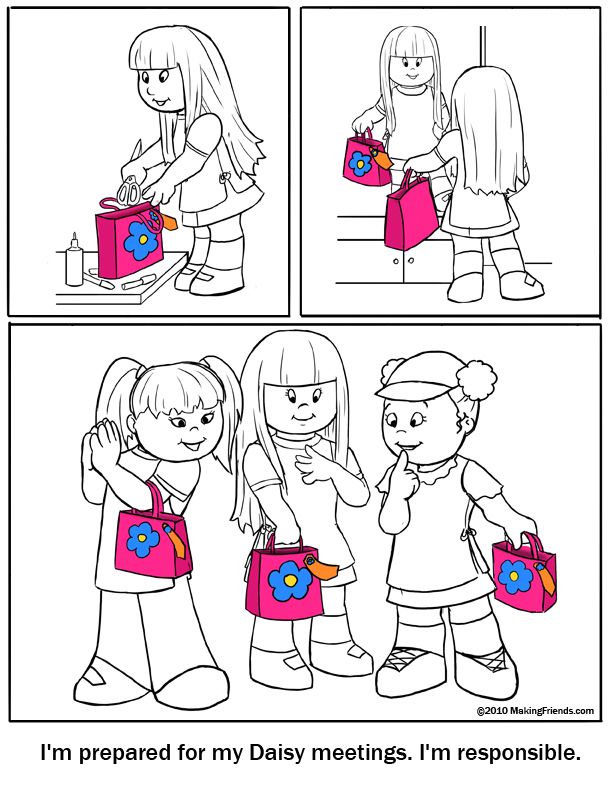 Earning Daisy Petals Coloring Pages MakingFriendsMakingFriends