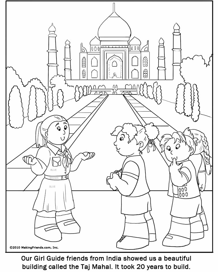 Indian Girl Guide Coloring Page