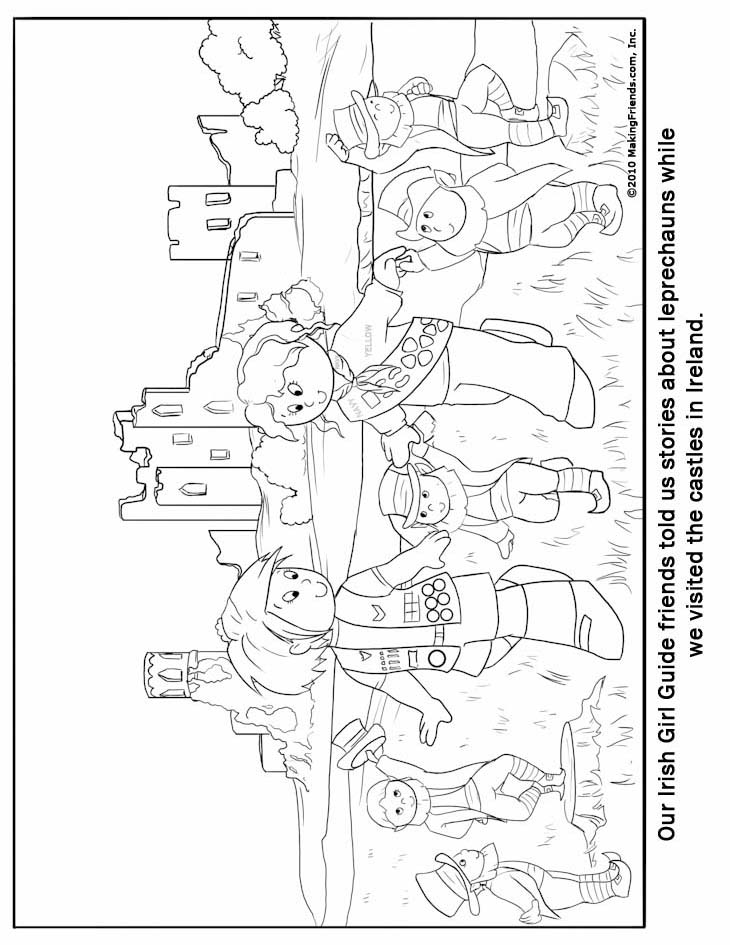 Iriish Girl Guide Coloring Page