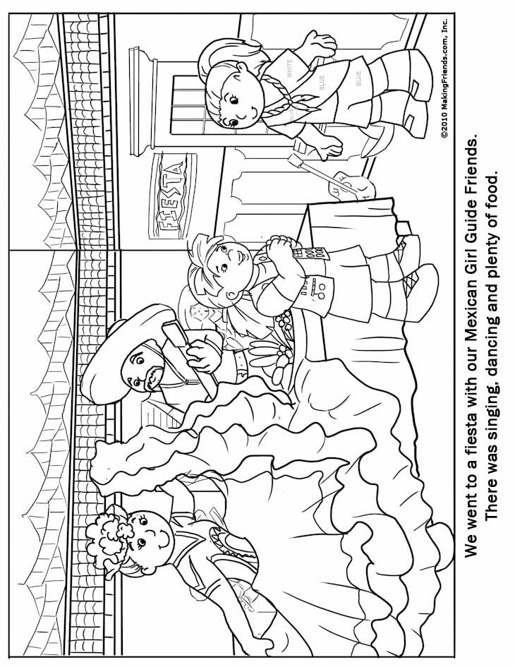 Mexican Girl Guide Coloring Page Guide Coloring Pages