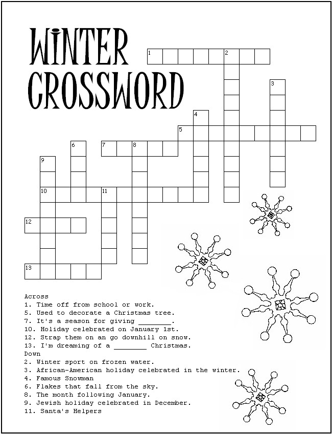 Winter Word Search Puzzle To Print And Play Pictures to pin on ...