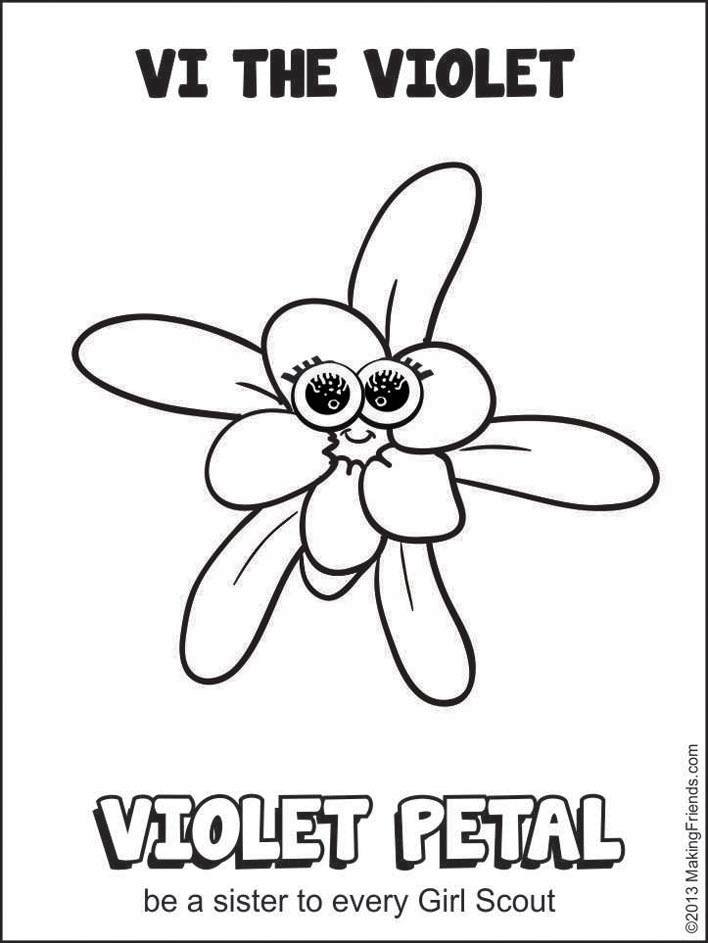 Daisy Girl Scout Coloring Page  Sister to Every Girl Scout