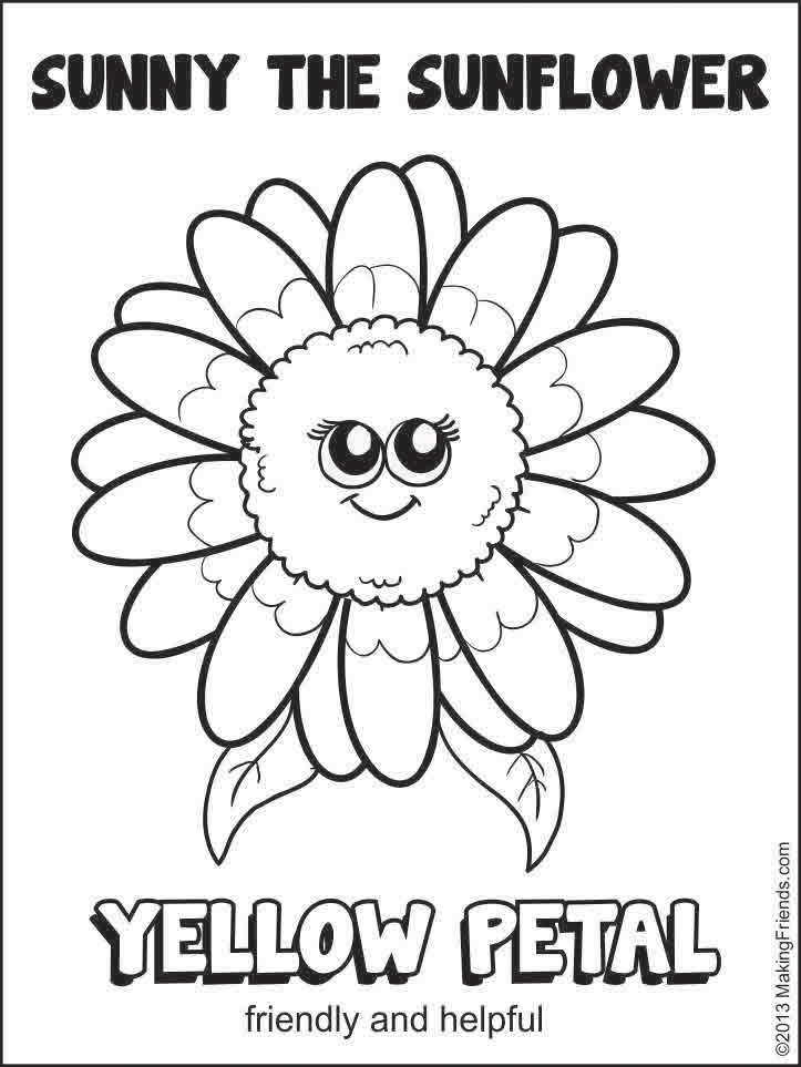 zinni petal coloring pages - photo#4