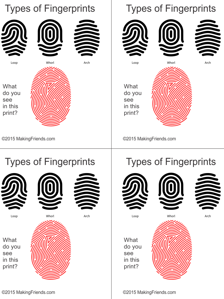 Junior Detective Badge Fingerprint Types
