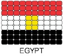 Egypt Flag Pin Pattern