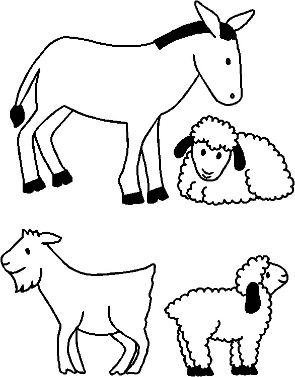 nativity animals coloring pages nativity animals for paper doll friends