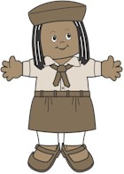 Egypt Girl Guide Paper Doll Friends