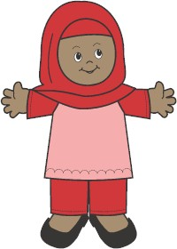 Muslim Paper Doll Friends