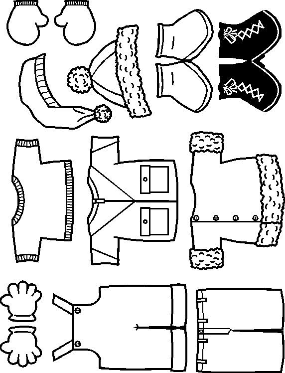 Friends winter clothes to color makingfriendsmakingfriends for Fall clothes coloring pages