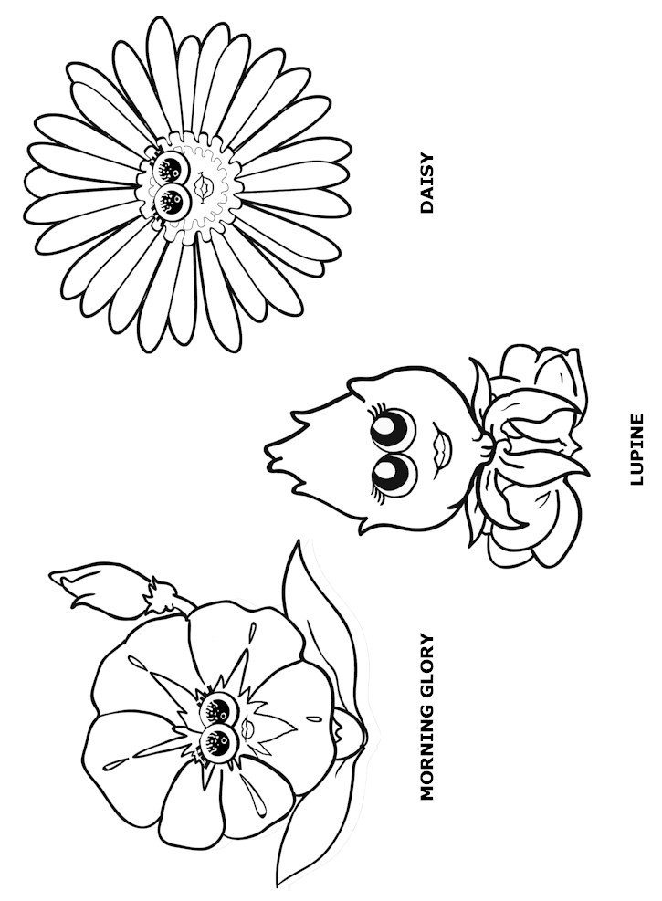Flower Friends coloring Page 1 MakingFriendsMakingFriends
