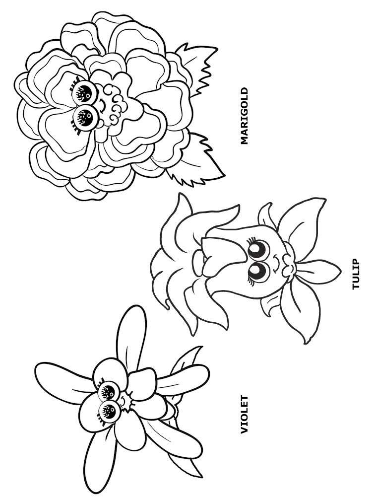 Flower Coloring Page 2 Scout Flower Garden Coloring Pages Free