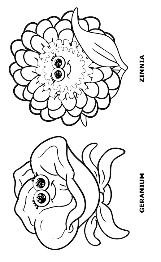 Flower Friends Coloring Page 3 Makingfriends
