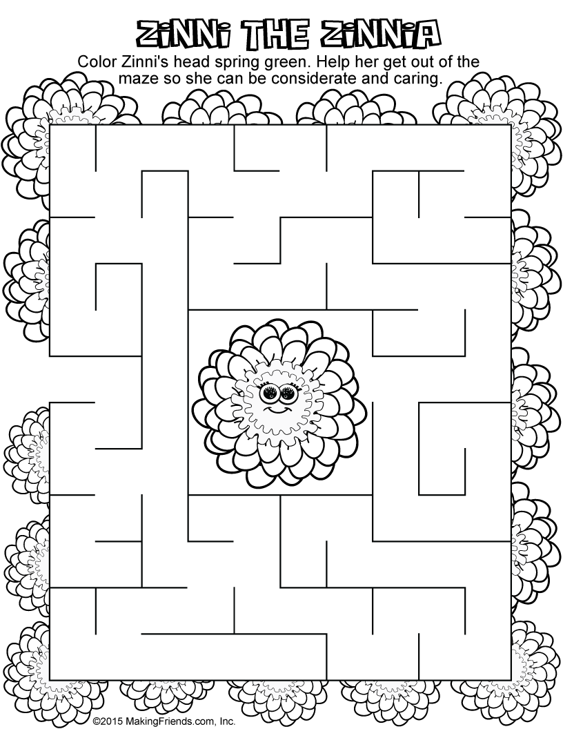 Daisy girl scout spring green petal considerate and caring for Considerate and caring coloring page