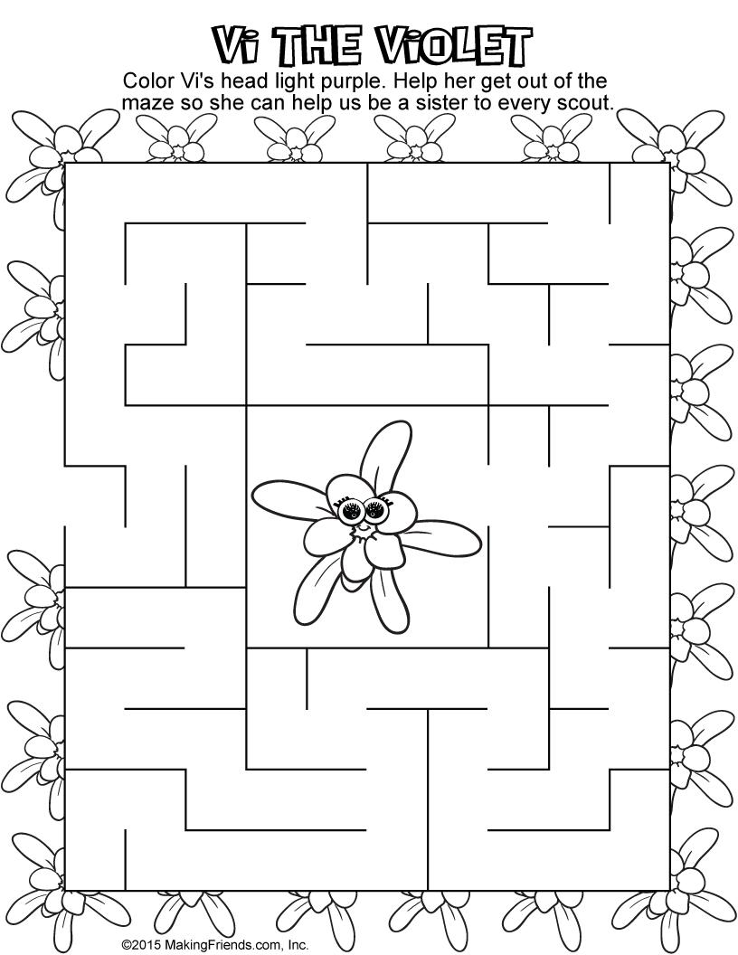 Daisy Violet Petal Maze Makingfriendsmakingfriends