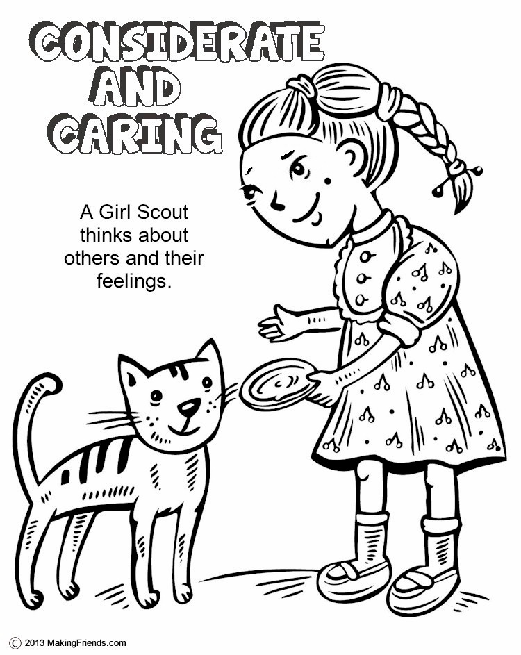 Daisy Spring Green Petal Considerate and Caring Coloring Page