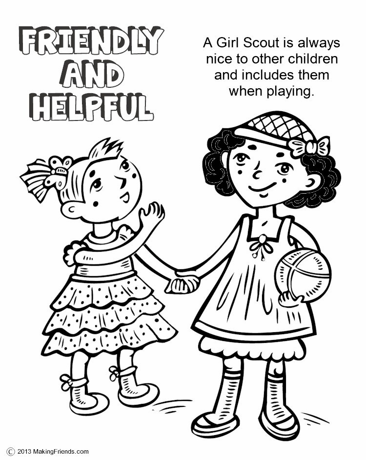 The Law Friendly and Helpful Coloring Page