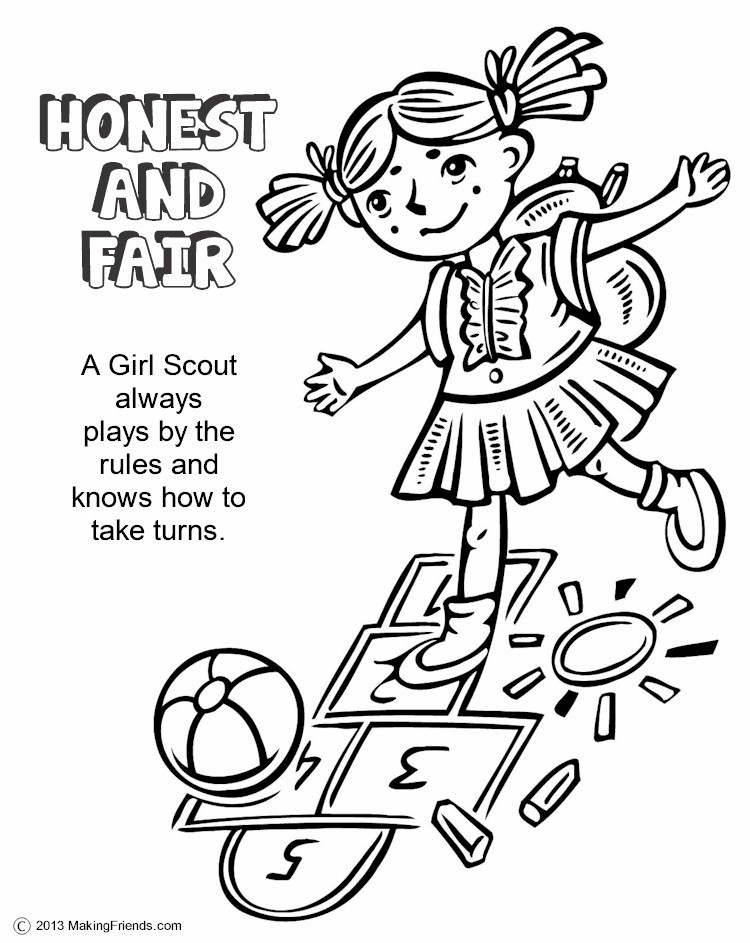 The Law Honest and Fair Coloring Page MakingFriendsMakingFriends