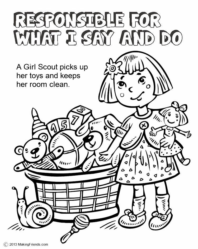 The Law Responsible for What I Say and Do Coloring Page