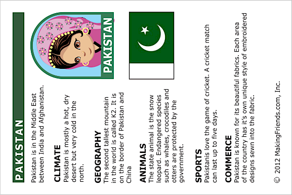 Pakistan Fact Card