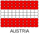 Austria Flag Pin Pattern