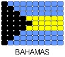 Bahamas Flag Pin Pattern