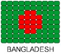 Bangladesh Flag Pin Pattern