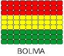 Bolivia Flag Pin Pattern