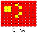 China Flag Pin Pattern