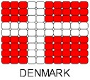 Denmark Flag Pin Pattern