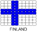 Finland Flag Pin Pattern